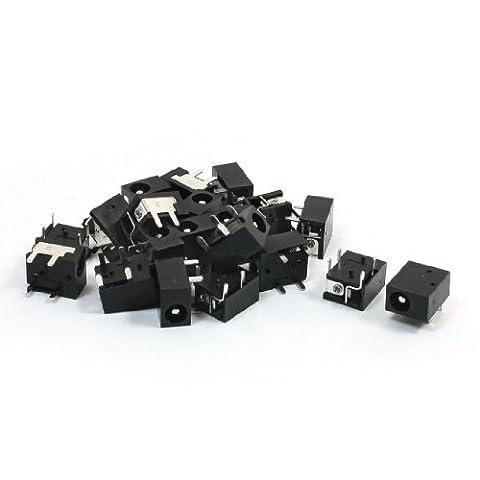 Lot de 20Panneau vertical monté 4broches d'alimentation 1,3x 3,5mm jack DC (Jack Socket Pin)