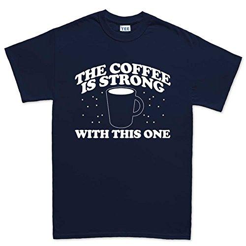MensCoffeeForceStrongWithThisOneEpisodeVIIIT Shirt(Tee)NBL S Navy Blue