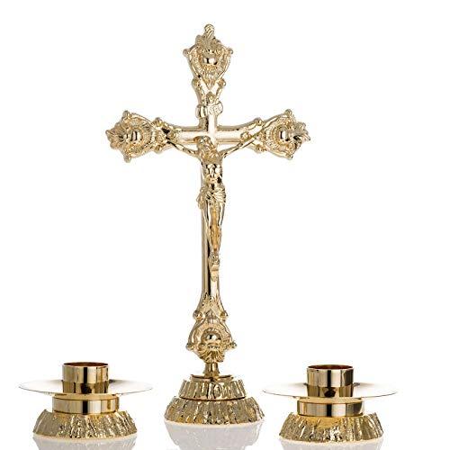 Holyart Croix d'autel et Chandeliers Assortis