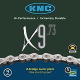 KMC Fahrrad Kette KMC X-9-73 grau 9-fach 18 27 Gang 116 Glieder Karton Shimano Schaltung, 300405