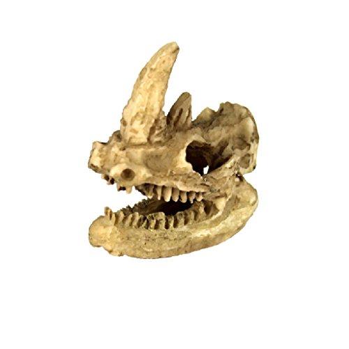 Modelo de Reptil Vivero Ornamento Rinoceronte Cabeza Decoración Terrarios Jardinería Bricolaje