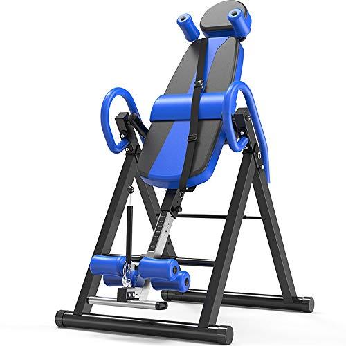 Chyuanhua Maquina Invertida Camilla Plegable Plegable Pesada Altura Ajustable en la Espalda Máquina de Gimnasio Invertida (Color : Azul, tamaño...