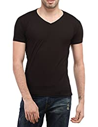 Tees Collection Men's V-Neck Cotton Half Sleeves T-shirt_TCBV003