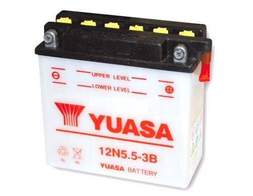12V 5,5Ah YUASA Batterie 12N 5,5-3B für Yamaha MT YZF-R 125, RD 250 350