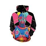 IMJONO Herren Frauen Paar Wear, Liebhaber Punk 3D Print Party Langarm Pullover Bluse Hoodie Sweatshirt(EU-42/CN-XL,Schwarz)