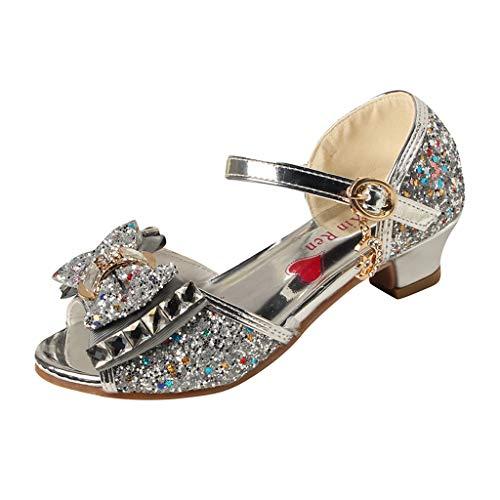 Alwayswin Mädchen Prinzessin Schuhe Sandalen Kleinkind Kinder Perle Kristall Bling Open Toe Single Schuhe Sandalette Stöckelschuhe Gelee Partei Schuhe Absatz-Schuhe Tanzschuhe