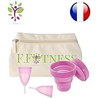 Fit Cup Set mit 2 Menstruationstassen, Größe 1oder 2+ Aufbewahrungstasche, waschbar + Sterilisator preisvergleich bei billige-tabletten.eu