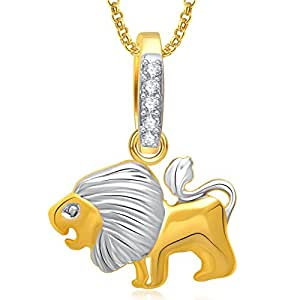 Valentine Gifts Meenaz Lion Locket Pendant Gold Animal Jewelry With Chain For Men And Women P...