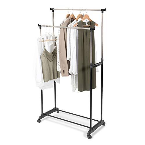 Store & Style - Burro ropa altura regulable, 78 x