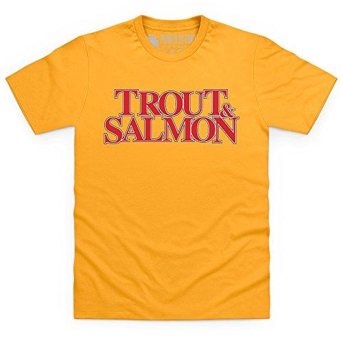 Trout & Salmon Logo T-Shirt, Herren Gelb