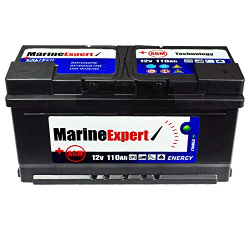 Batteria per barca, 110 Ah, AGM, senza manutenzione, 140 Ah, 120 Ah, 100 Ah,