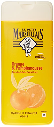 Le Petit Marseillais - Douche et Bain Extra Doux - Orange Pamplemousse Flacon - 650 ml - Lot de 2