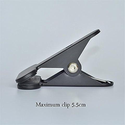 BJVB Mesa lámpara hierro abrazadera lámpara abrazaderas lámpara negro blanco DIY lámparas e iluminación accesorios manguera Abrazaderas máximo Clip 5.5 cm (10 paquetes) . black