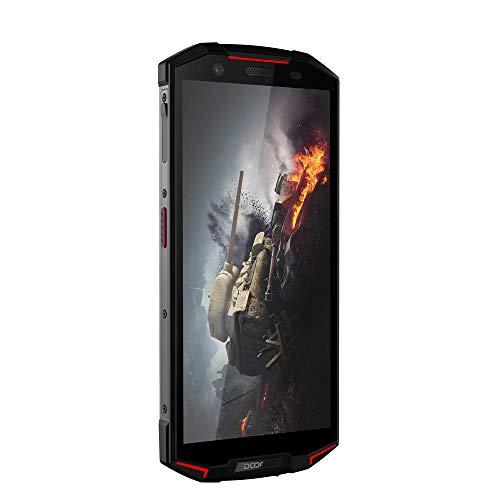FSM88 4G-Handys, 5,99 '' HD (18: 9 Vollbild), Zwei Rückfahrkameras, wasserdicht, Staub- und stoßfest, 6 GB / 64 G mit Fingerabdrucksensor,Red - Handys Entsperrt Lg Sim