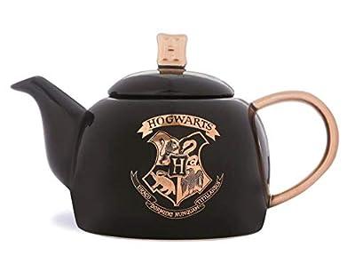 Officiel Harry Potter Poudlard Théière Noir et Doré Poudlard