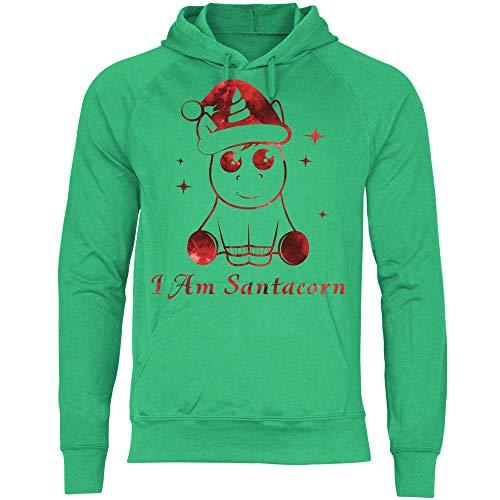Royal Shirt Herren Hoodie Ich Bin Santacorn, Größe:XL, Farbe:Kelly Green
