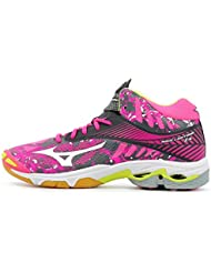 new product 61d37 bdfc2 Mizuno Wave Lightning Z4 Mid Wos, Chaussures de Volleyball Femme