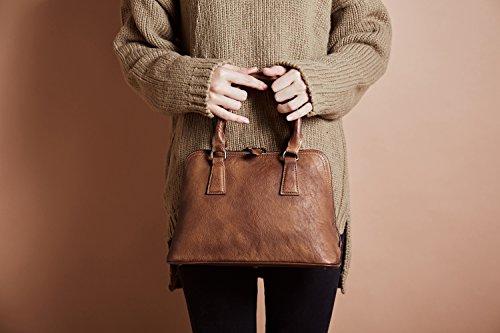 Bvane, Borsa a spalla tracolla top maniglia donna marrone marrone