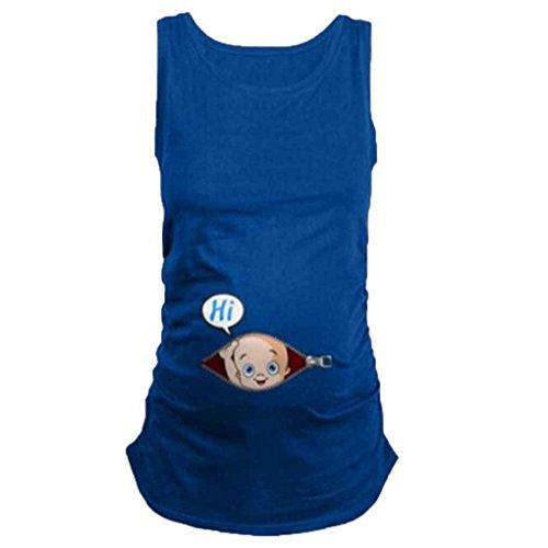 Mengonee Schwangere Frauen T-Shirts Mutterschaft Tees Kleidung Pflege Top Weste Schwangerschaft Casual Schöne T-Shirts Tops