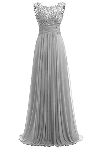Carnivalprom Damen Chiffon Abendkleider Lange Elegant HochzeitsKleid Spitze...