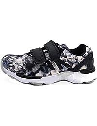 Scarpe Bimba Bambina Sneakers Ginnastica Strappo Glitter Brillantini Blu GD695