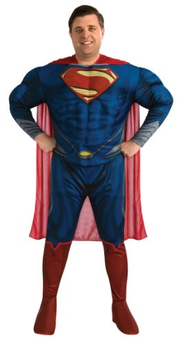 Mens Plus Size Deluxe Superman Man of Steel (Size Superman Plus Kostüme Deluxe)