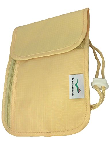 Travellersling - Portadocumentos de cuello  Beige beige