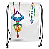 This Bag Is Polyester Fiber Lined For Easy Cleaning And The Drawstring Closure Keeps Your Belongings Secure While Accessible.and Large Events Of All Kinds.Main Compartment With Drawcord Closure For Spacious Storage And Easy Access.This White Drawstri...