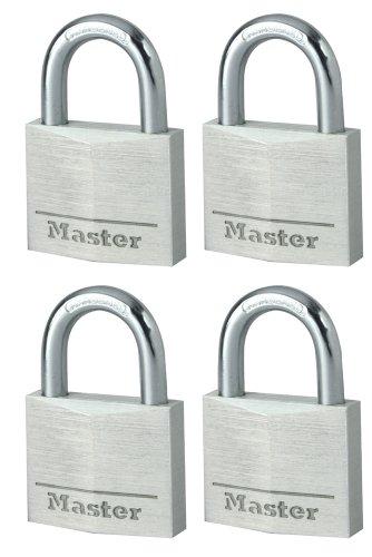 Master Lock 9140EURQNOP Lote de Candados para Bodegas, Plata, 40mm, Se