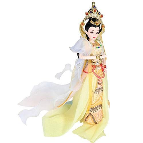 DoCori Chinesische Puppe mit Alten Kostüm orientalischer Seide Verkleidet Figur Puppe Statue für Desktop Dekor Geschenk für Tochter, - Chinesisch Inspirierte Kostüm
