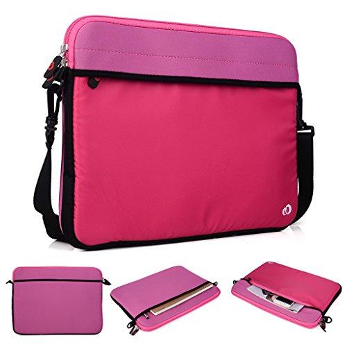 Kroo Tablet/Laptop Hülle Sleeve Case mit Schultergurt für Dell Latitude 12E5250 rosa rose