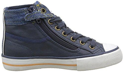 Kaporal Icarnito, Baskets Hautes Mixte Enfant Bleu (Marine)