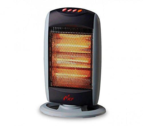 Takestop® estufas estufa eléctrica halógena 1200W dos elementos Radiador Calefactor para casa oficina