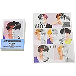 Lot de 59 minis cartes photos de Suga de BTS Kpop