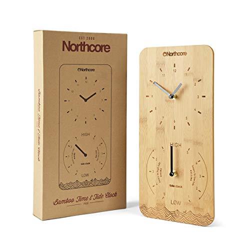 Ubicados en bambú natural con una cara grabada con láser, la marea de Northcore y los relojes de tiempo están diseñados para proporcionar una guía de los tiempos de marea en su ubicación seleccionada junto con un reloj de tiempo analógico clásico....