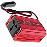 MASCARELLO 150W Car Power Inverter DC 12V to 220V 230V 240V AC Converter with AC Outlet and 5V/2.4A USB Car Charger for iPhone Laptop Notebook Camping Road Trip Must Have