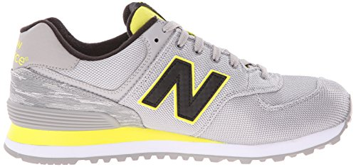 New Balance Men's ML574 Summer Waves Running Shoe, Grey/Yellow, 10 2E US Multicolore (multicolore)
