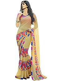 Kanchan Women's Silk Printed Saree With Blouse Piece - BENGALCHECKS9192_Yellow_Free Size