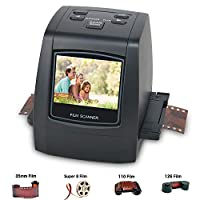 DIGITNOW! 22MP All-in-1 Film & Slide Scanner, Converts 35mm 135 110 126 and Super 8 Films/Slides/Negatives to Digital JPG Photos, Built-in 128MB Memory, 2.4 LCD Screen viewer