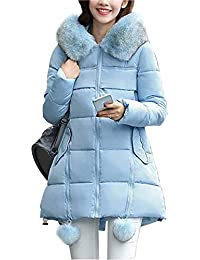 BOLAWOO Chaqueta Invierno Mujer Largos Termica Espesar Abrigo Acolchado  Elegantes Mode De Marca Fashion Parka Invierno 062d4d1b2eeb