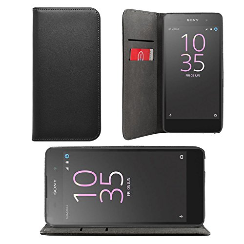 iProtect Sony Xperia E5 Tasche im Bookstyle mit integriertem Magnetverschluss in Schwarz