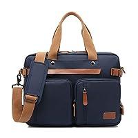 Arlrich Convertible Backpack Messenger Bag Shoulder Bag Laptop Case Handbag Business Briefcase Multi-Functional Travel Rucksack Fits 15.6 Inch Laptop for Men/Women (15.6 inches, Blue)