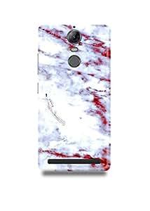 White & Red Marble Lenovo K5 Note Case-1377