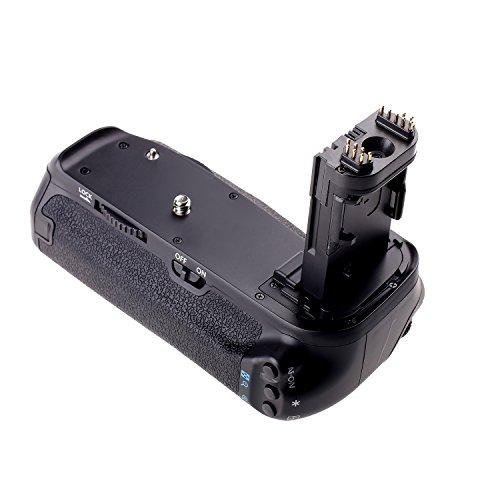 Yeeteem BG-1T Poignée D'alimentation Batterie Grip pour Canon EOS 70D 80D DSLR Remplacement pour BG-E14 Compatible avec batteries LP-E6 ou six piles AA