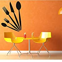 juntop Knife Spoons Fork Wall Stickers Kitchen Decor Vinyl Removable Waterproof Home Decoration Wall Decal 44 * 57cm