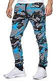 OneRedox Herren Jogging Hose Jogger Streetwear Sporthose Modell 794 Turkis XL