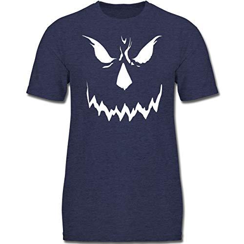 ary Smile Halloween Kostüm - 128 (7-8 Jahre) - Dunkelblau Meliert - F130K - Jungen Kinder T-Shirt ()