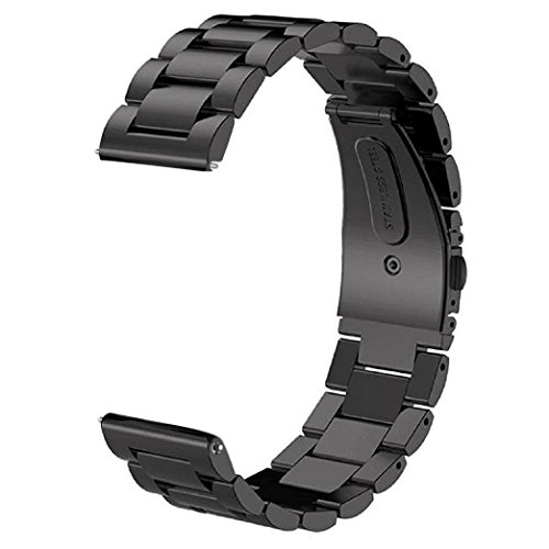 V-MORO Samsung Gear S3 Watch Bands, Galaxy Watch 46mm Strap,Black 22mm Stainless...
