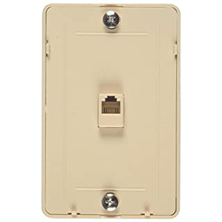 Allen Tel Products AT229 Single Gang, 1 Port, Contains Three 6 Position, 4 Conductor Modular Jacks Wall Telephone Outlet Jack, Plastic, Ivory