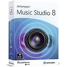 Music Studio 8 - Audio Recorder, professionelles Tonstudio zum Aufnehmen, Bearbeiten und Abspielen aller gängigen Audiodateien: WAV, AIFF, FLAC, MP2, MP3, OGG für Windows 10, 8.1, 7